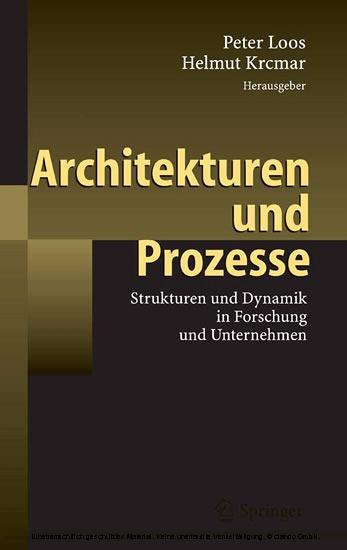 Architekturen und Prozesse - Blick ins Buch