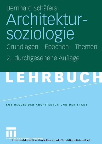 Architektursoziologie - Blick ins Buch