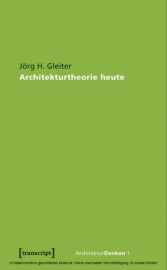 Architekturtheorie heute - Blick ins Buch