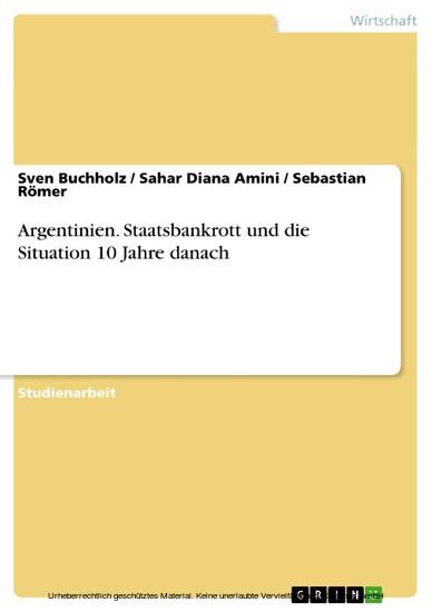 Argentinien. Staatsbankrott und die Situation 10 Jahre danach - Blick ins Buch