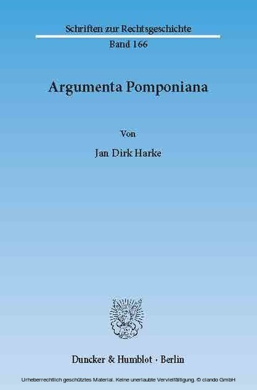 Argumenta Pomponiana. - Blick ins Buch