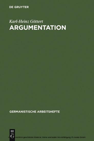 Argumentation - Blick ins Buch