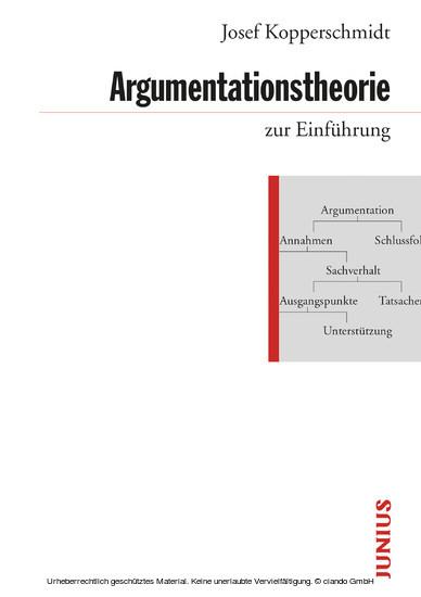Argumentationstheorie zur Einführung - Blick ins Buch
