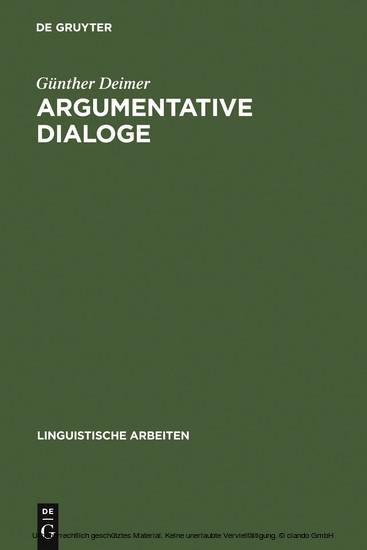 Argumentative Dialoge - Blick ins Buch