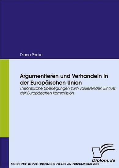 Argumentieren und Verhandeln in der Europäischen Union - Blick ins Buch