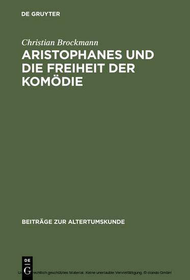 Aristophanes und die Freiheit der Komödie - Blick ins Buch
