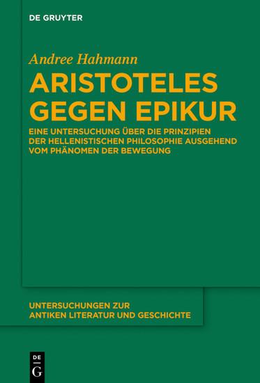 Aristoteles gegen Epikur - Blick ins Buch
