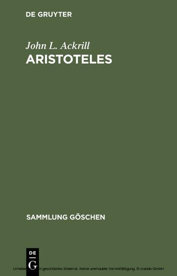Aristoteles - Blick ins Buch