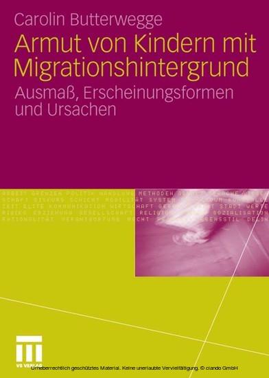 Armut von Kindern mit Migrationshintergrund - Blick ins Buch