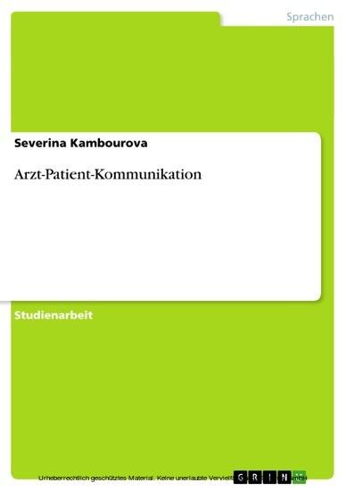 Arzt-Patient-Kommunikation - Blick ins Buch