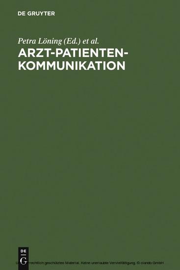 Arzt-Patienten-Kommunikation - Blick ins Buch