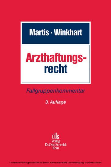 Arzthaftungsrecht - Blick ins Buch