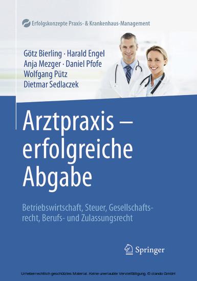 Arztpraxis - erfolgreiche Abgabe - Blick ins Buch