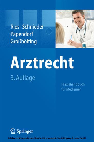 Arztrecht - Blick ins Buch