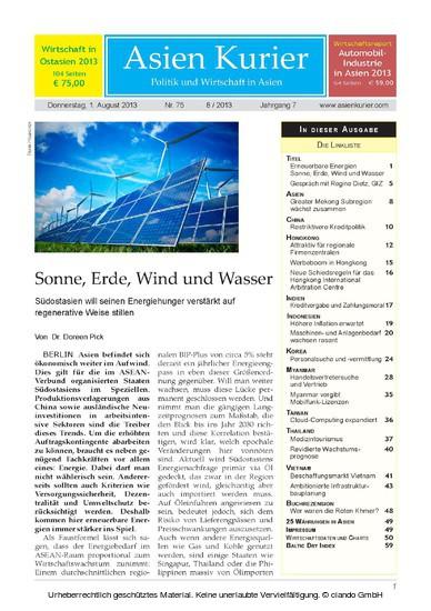Asien Kurier 08/2013 - Blick ins Buch