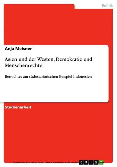 Asien und der Westen, Demokratie und Menschenrechte - Blick ins Buch