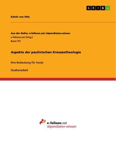 Aspekte der paulinischen Kreuzestheologie - Blick ins Buch