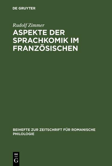 Aspekte der Sprachkomik im Französischen - Blick ins Buch