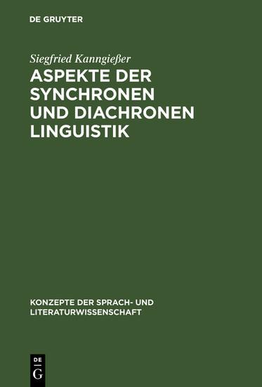 Aspekte der synchronen und diachronen Linguistik - Blick ins Buch