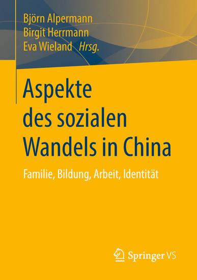 Aspekte des sozialen Wandels in China - Blick ins Buch