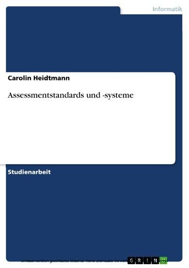 Assessmentstandards und -systeme - Blick ins Buch