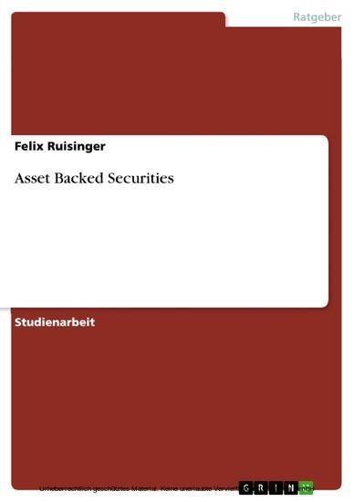 Asset Backed Securities - Blick ins Buch