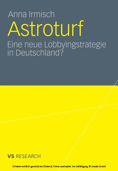 Astroturf - Blick ins Buch