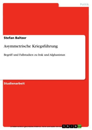 Asymmetrische Kriegsführung - Blick ins Buch