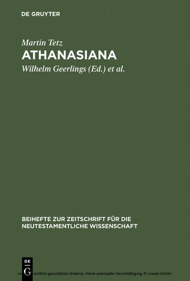 Athanasiana - Blick ins Buch