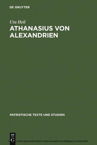 Athanasius von Alexandrien - Blick ins Buch