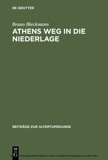 Athens Weg in die Niederlage - Blick ins Buch