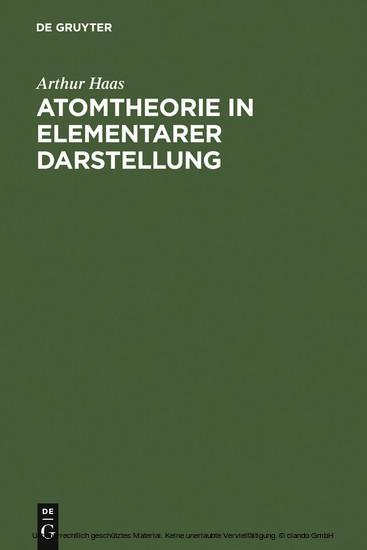 Atomtheorie in elementarer Darstellung - Blick ins Buch