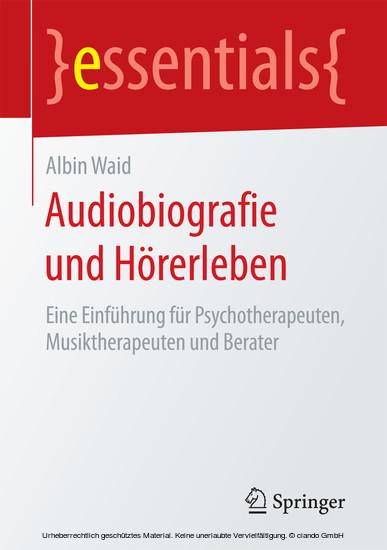 Audiobiografie und Hörerleben - Blick ins Buch