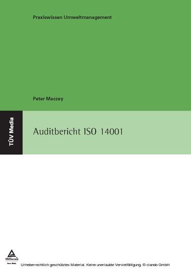 Auditbericht ISO 14001 - Blick ins Buch