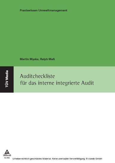 Auditcheckliste für das interne integrierte Audit - Blick ins Buch