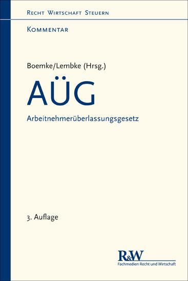 AÜG - Arbeitnehmerüberlassungsgesetz - Blick ins Buch