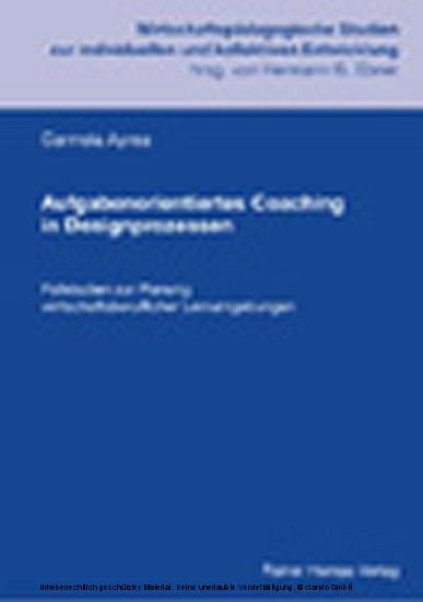 Aufgabenorientiertes Coaching in Designprozessen - Blick ins Buch
