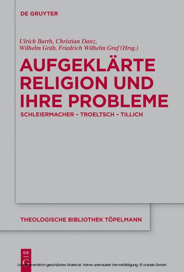 Aufgeklärte Religion und ihre Probleme - Blick ins Buch