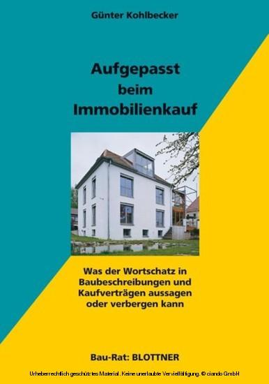 Aufgepasst beim Immobilienkauf - Blick ins Buch