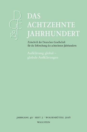 Aufklärung global -globale Aufklärungen - Blick ins Buch