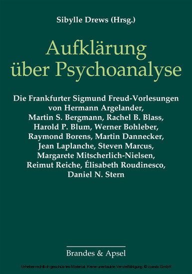 Aufklärung über Psychoanalyse - Blick ins Buch