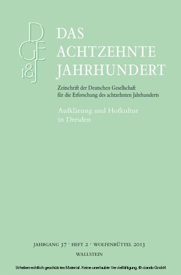 Aufklärung und Hofkultur in Dresden - Blick ins Buch