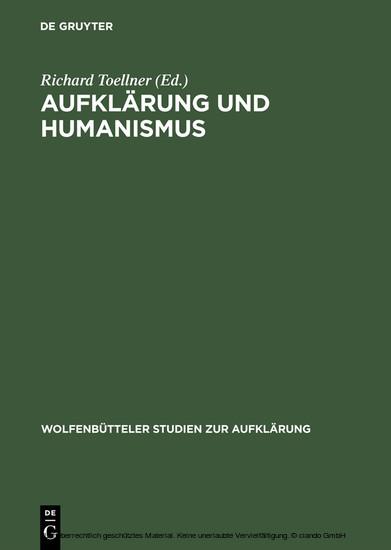 Aufklärung und Humanismus - Blick ins Buch