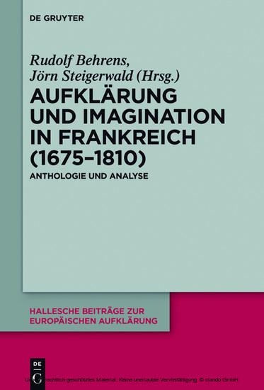 Aufklärung und Imagination in Frankreich (1675-1810) - Blick ins Buch