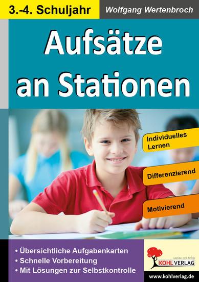 Aufsätze an Stationen 3/4 - Blick ins Buch