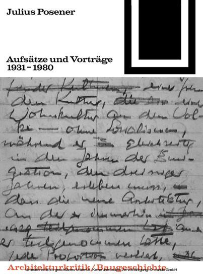 Aufsätze und Vorträge 1931-1980 - Blick ins Buch