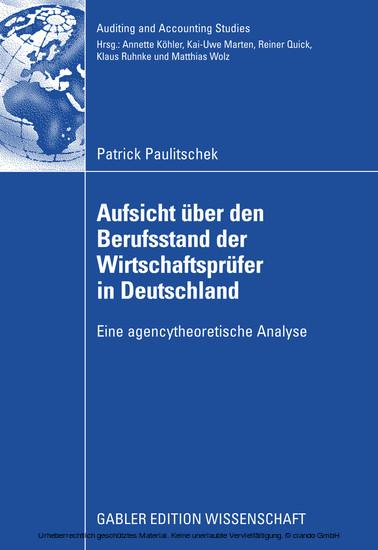 Aufsicht über den Berufsstand der Wirtschaftsprüfer in Deutschland - Blick ins Buch