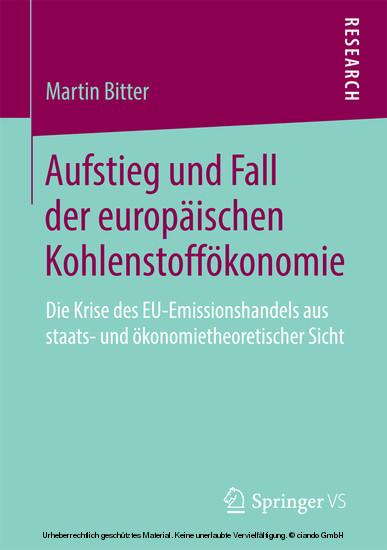Aufstieg und Fall der europäischen Kohlenstoffökonomie - Blick ins Buch