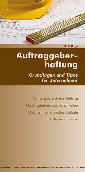 Auftraggeberhaftung (Ausgabe Österreich) - Blick ins Buch