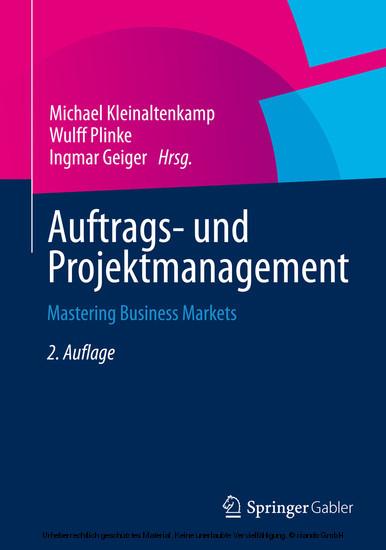 Auftrags- und Projektmanagement - Blick ins Buch